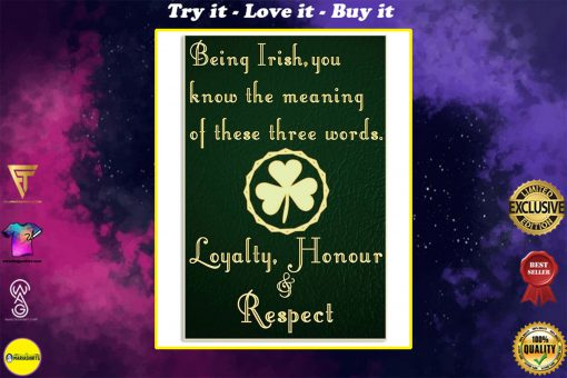 being irish you know the meaning of these words poster