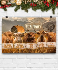 cow its okay to make mistakes to have bad days to be yourself poster 5