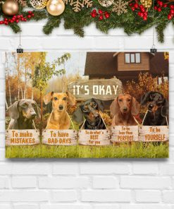 dachshund its okay to make mistakes to have bad days to be yourself poster 5
