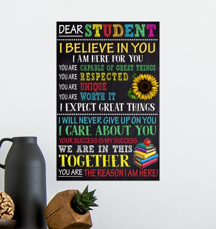 dear students i believe in you i am here for you poster 4