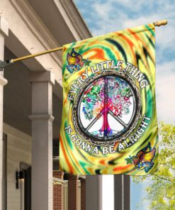 every little thing is gonna be alright hippie all over print flag 2