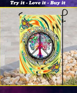 every little thing is gonna be alright hippie all over print flag
