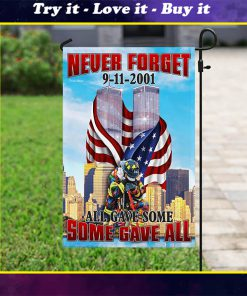 firefighter 343 never forget 9 11 2001 full printing flag