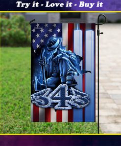 firefighter 343 never forget september 11th flag
