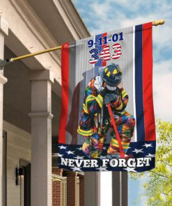 firefighter never forget american all over print flag 2