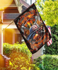 firefighter some gave all all gave some full printing flag 2