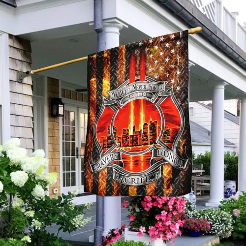 firefighter you will never forget full printing flag 2