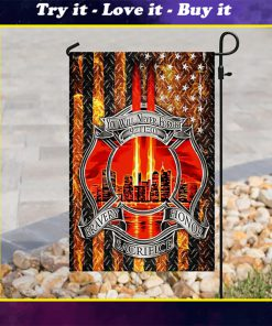 firefighter you will never forget full printing flag