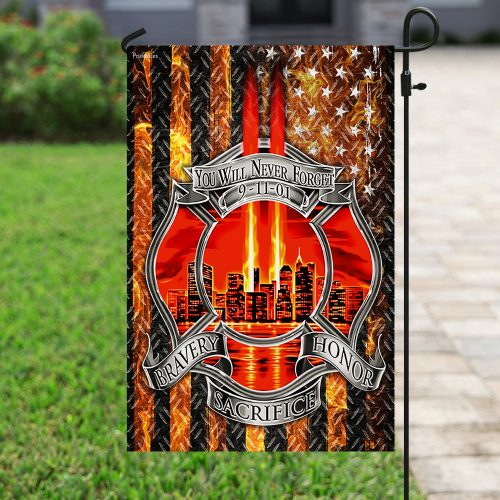 firefighter you will never forget full printing flag 4