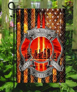 firefighter you will never forget full printing flag 5
