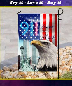 forever in our heart september 11th all over print flag