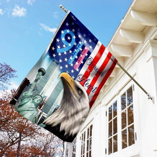 forever in our heart september 11th all over print flag 3