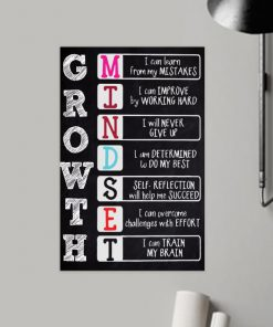 growth i can learn from my mistakes i can train my brain poster 2