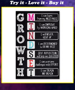 growth i can learn from my mistakes i can train my brain poster