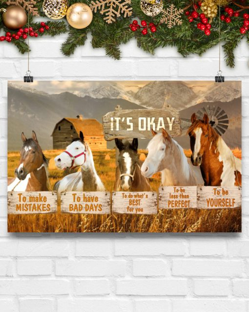 horse its okay to make mistakes to have bad days to be yourself poster 5
