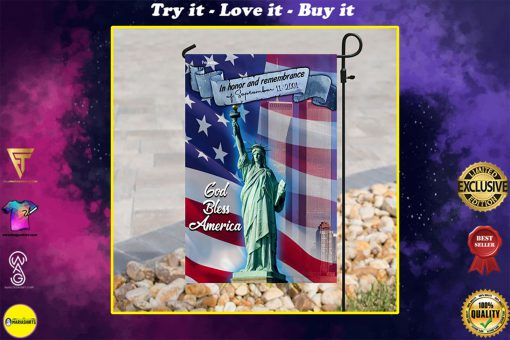 in honor and remembrance of september 11 2001 full printing flag