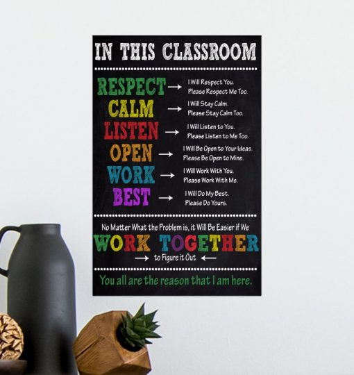 in this classroom you all are the reason that i am here poster 4