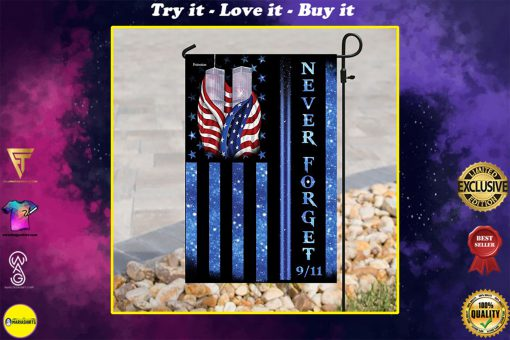 never forget september 11th american all over print flag