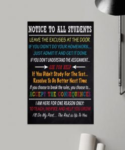 notice to all students ill do my past the rest is up to you poster 2