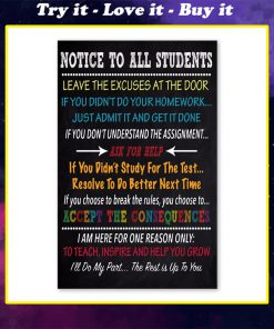 notice to all students ill do my past the rest is up to you poster