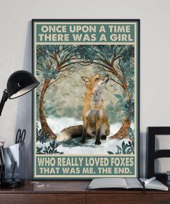 once upon a time there was a girl who really loved foxes vintage poster 3
