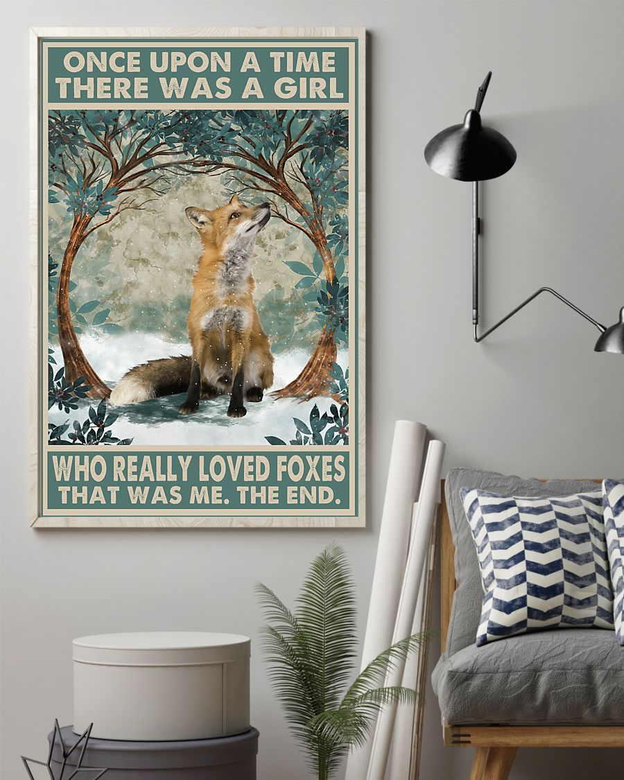 once upon a time there was a girl who really loved foxes vintage poster 4