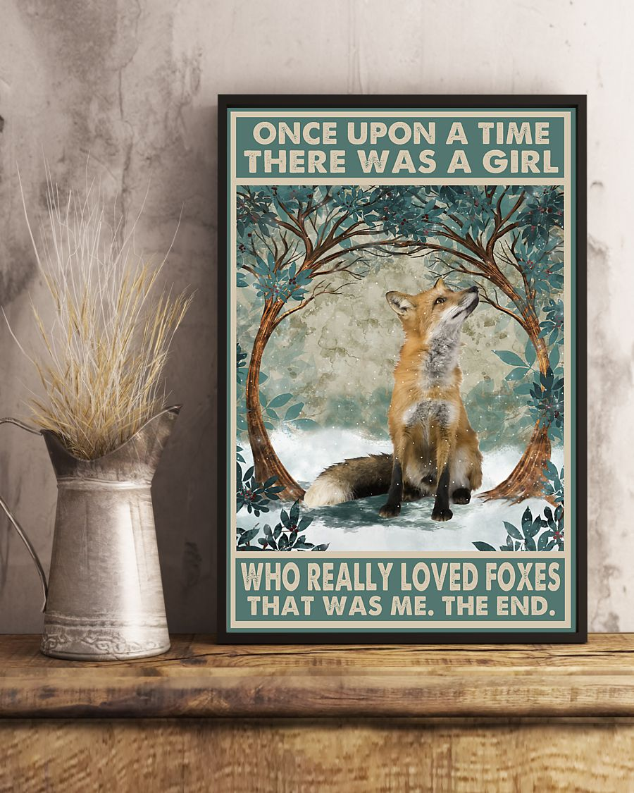 once upon a time there was a girl who really loved foxes vintage poster 5