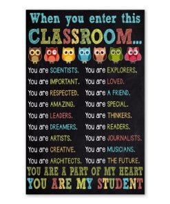 owl when you enter this classroom you are my student poster 3