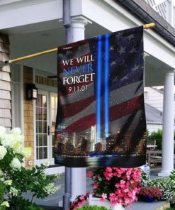 september 11th 2001 we will never forget all over print flag 2