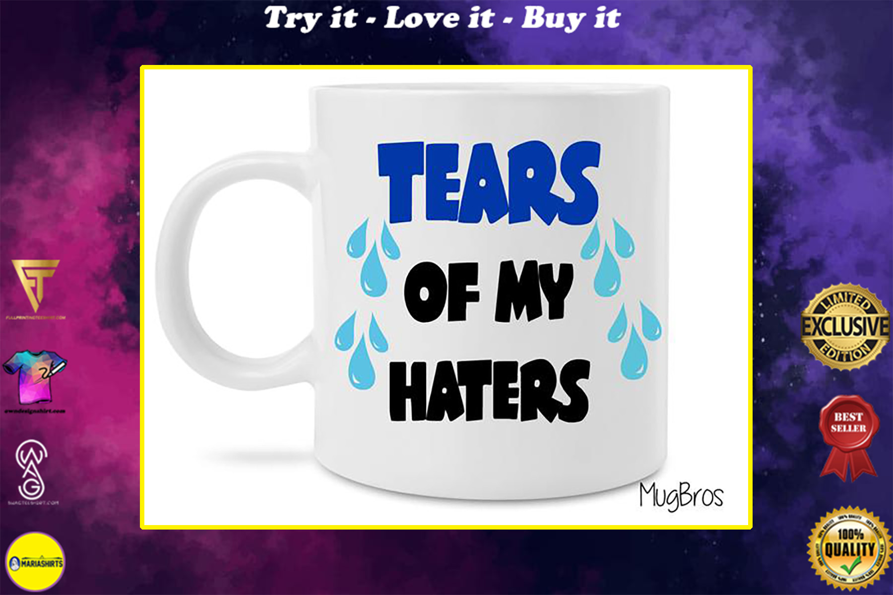 tears of my haters coffee cup