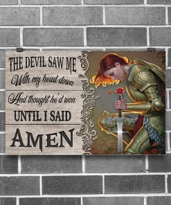the devil saw me with my head down child of God poster 2