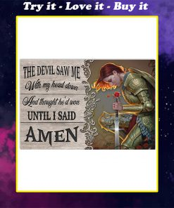 the devil saw me with my head down child of God poster