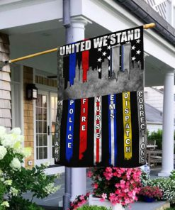 united we stand 9 11 first responder all over printed flag 2