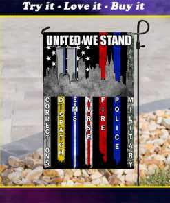 united we stand 9 11 first responder all over printed flag