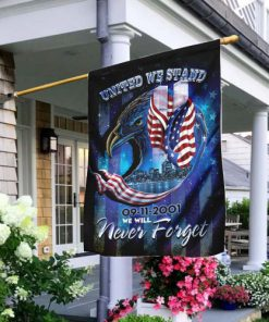 united we stand september 11th never forget all over print flag 2