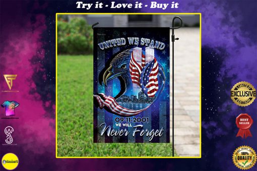 united we stand september 11th never forget all over print flag