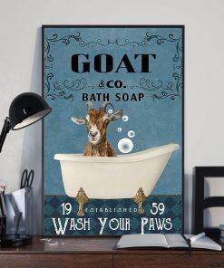 vintage goat bath soap wash your paws poster 3