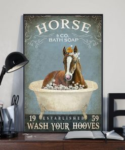 vintage horse bath soap wash your paws poster 3