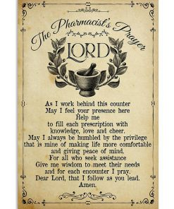 vintage the pharmacists prayer lord wall art poster 2