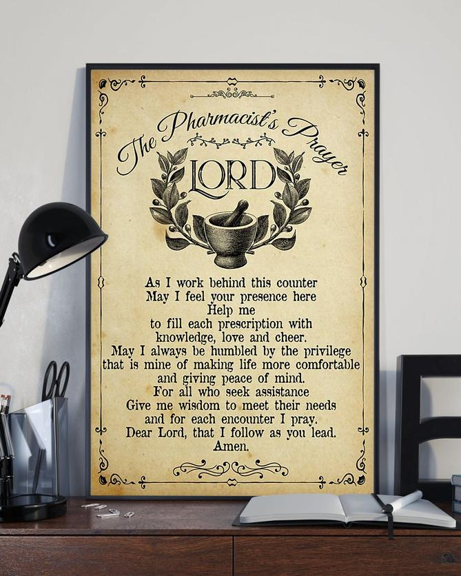 vintage the pharmacists prayer lord wall art poster 3