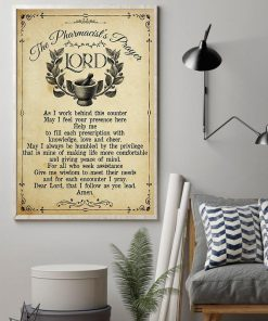 vintage the pharmacists prayer lord wall art poster 4