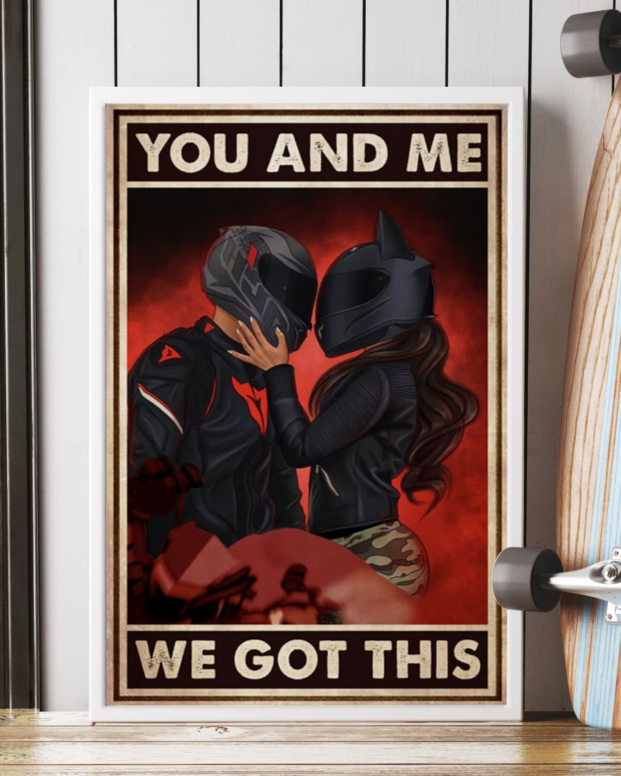 you and me we got this motor couple poster 2