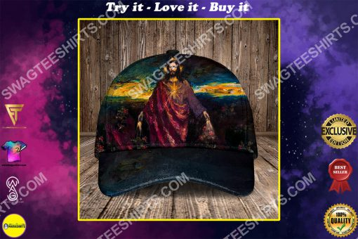 God i believe in you all over printed classic cap