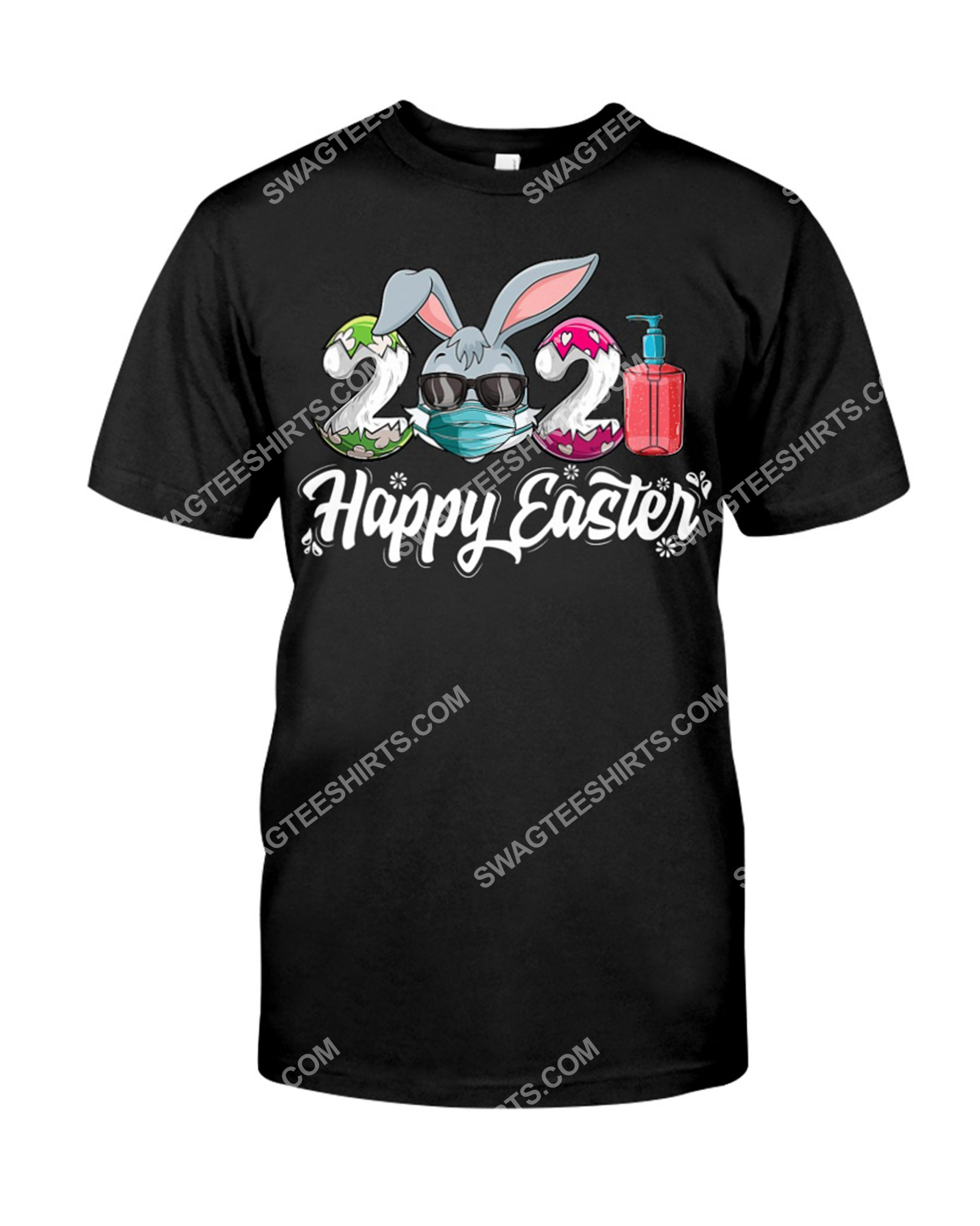 Happy Easter Day 2021 Bunny Wearing Mask Shirt 1(1)