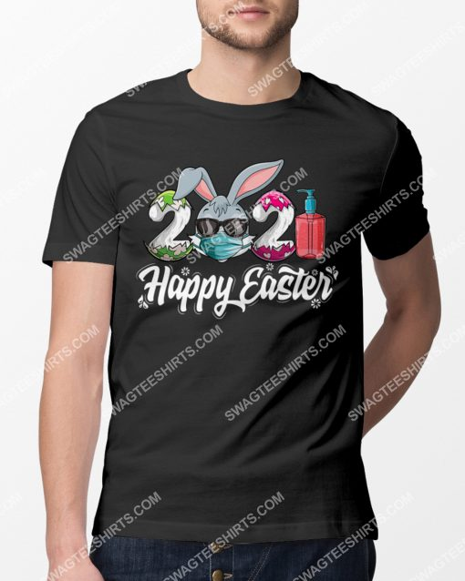 Happy Easter Day 2021 Bunny Wearing Mask Shirt 2(1)