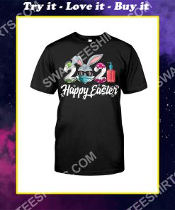 Happy Easter Day 2021 Bunny Wearing Mask Shirt