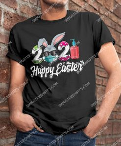 Happy Easter Day 2021 Bunny Wearing Mask Shirt 3(1)