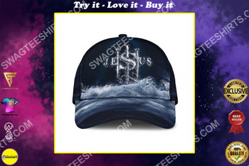 Jesus changed my life all over printed classic cap
