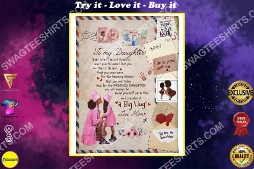 air mail to my daughter i am so proud of you full printing blanket