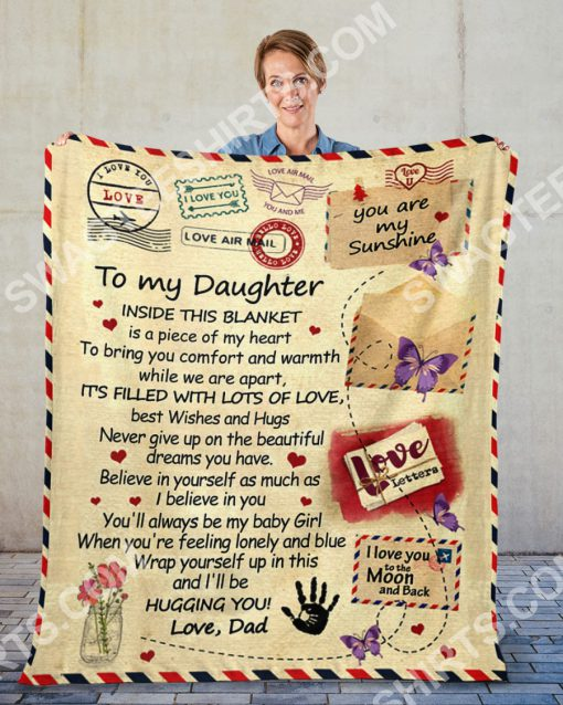 air mail to my daughter ill be hugging you your dad full printing blanket 2(1)